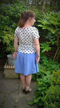Chambray Hollyburn skirt and spotty scout tee